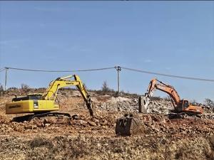 大连土石方油锤破碎施工
